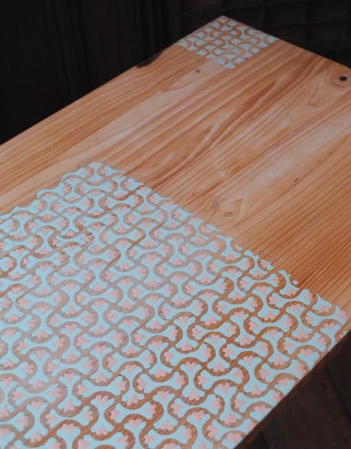 Lace design table by Jennifer Hanley (detail)
