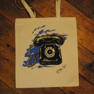 One of our fabulous hand screen-printed tote bags - with a bespoke design by Tara McNeill