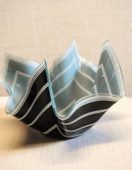 Striped glass bowl
