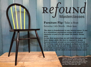 furniture flip take a seat flyer