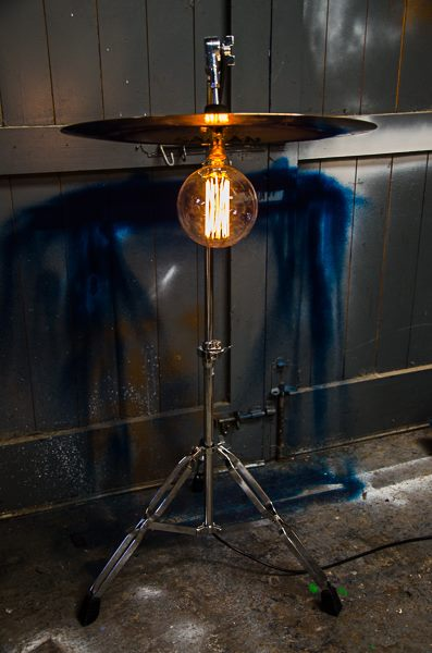 Cymbal floor lamp by Twisted Salvage