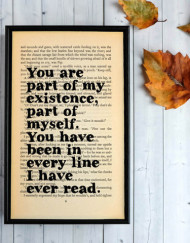 Great Expectations Part of My Existence Framed Print