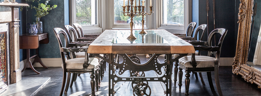 Bespoke vintage sewng machine base table