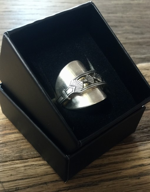Solid Silver Upcycled Spoon Ring