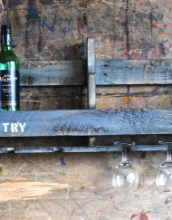 Upcycled Wooden Wine Rack