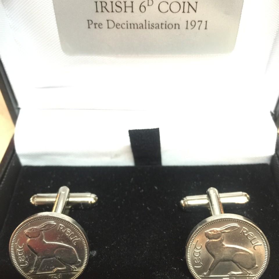 Upcycled Irish 6D Coin 1971