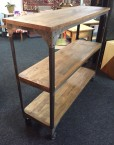 refound wood and metal industrial shelves