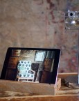 refound upcycled wooden ipad holder