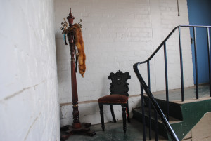 chair and coat stand