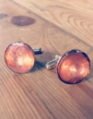 copper cufflinks